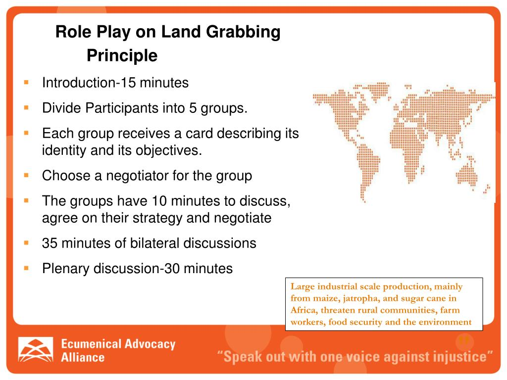 Role Play on Land Grabbing