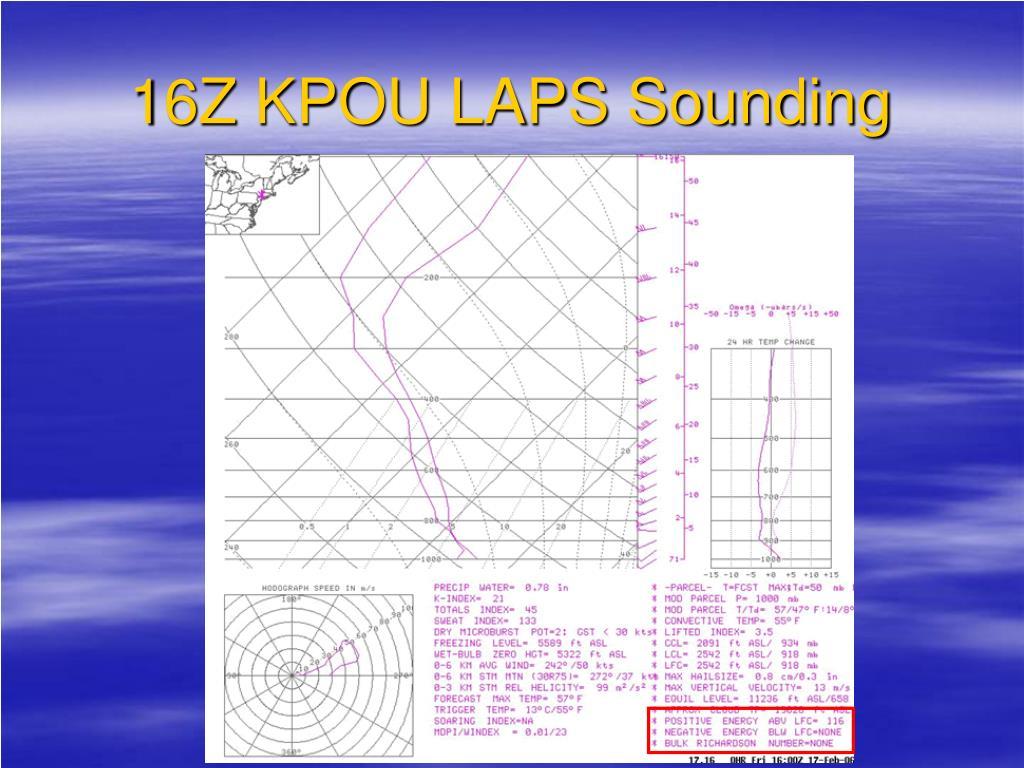 16Z KPOU LAPS Sounding