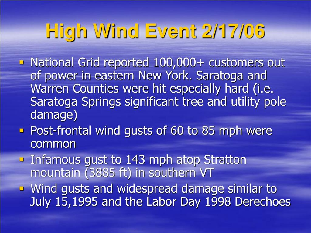 High Wind Event 2/17/06
