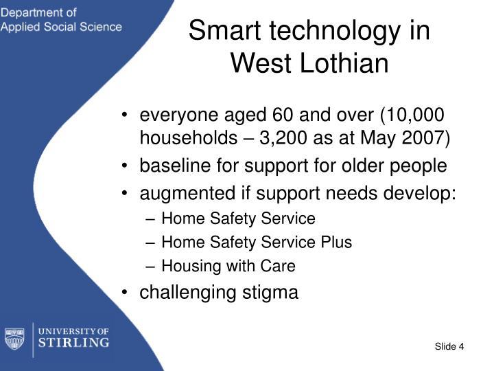Smart technology in West Lothian