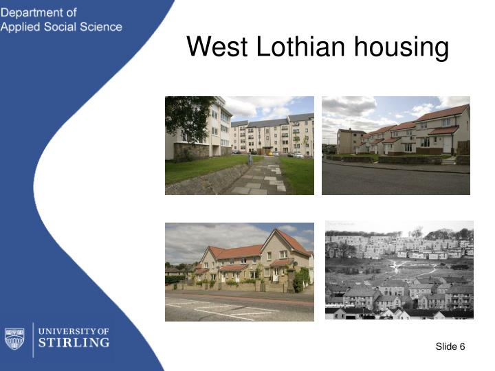 West Lothian housing