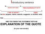i ntroductory sentence
