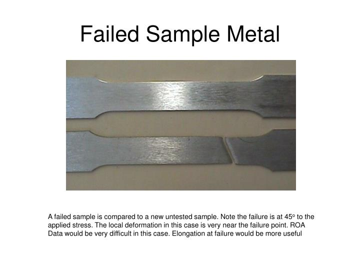 Failed Sample Metal