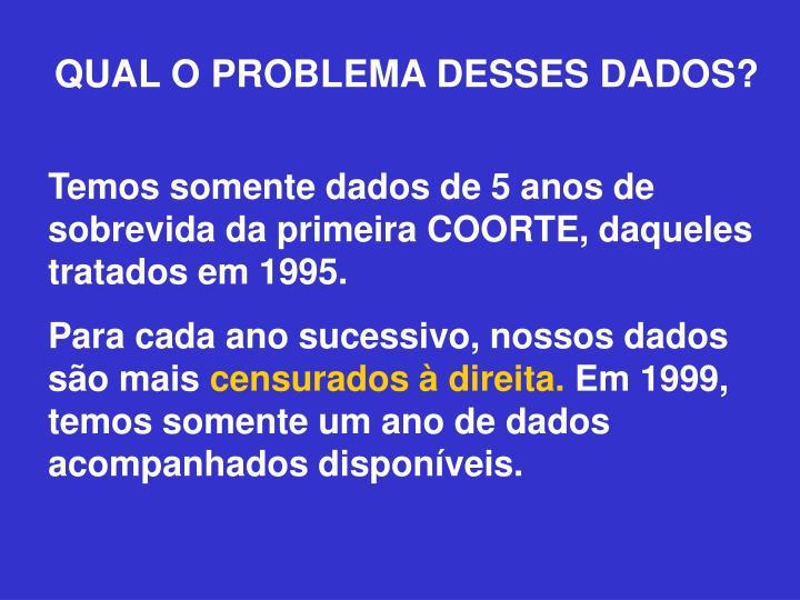 QUAL O PROBLEMA DESSES DADOS?
