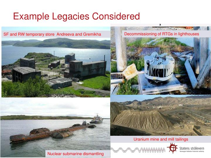 Example Legacies Considered