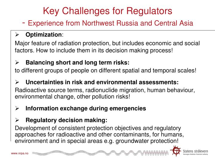 Key Challenges for Regulators