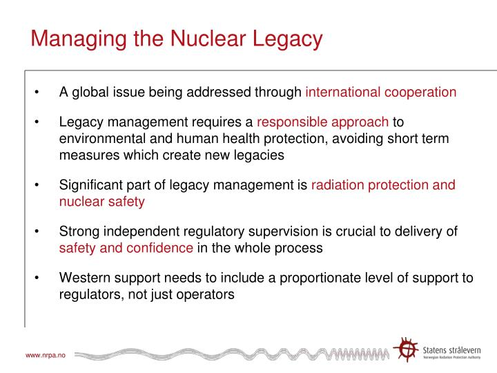 Managing the Nuclear Legacy