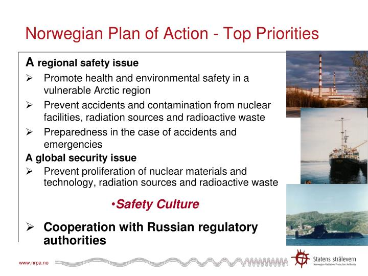 Norwegian plan of action top priorities