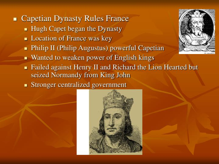 Capetian Dynasty Rules France