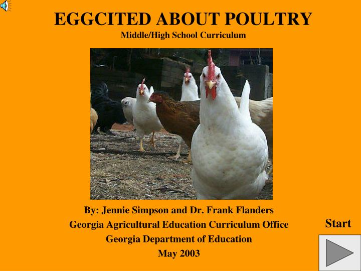 Eggcited about poultry middle high school curriculum