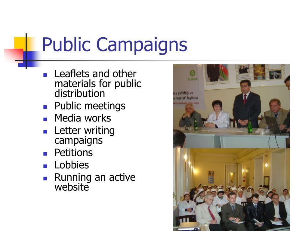 Public Campaigns
