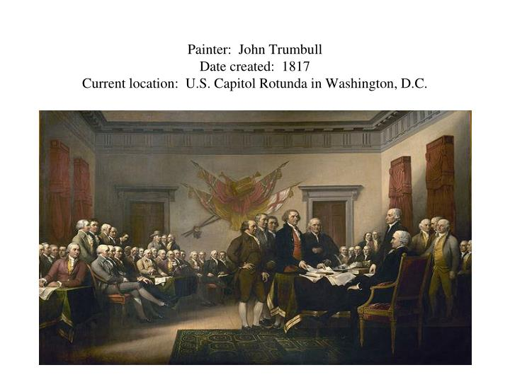 Painter:  John Trumbull