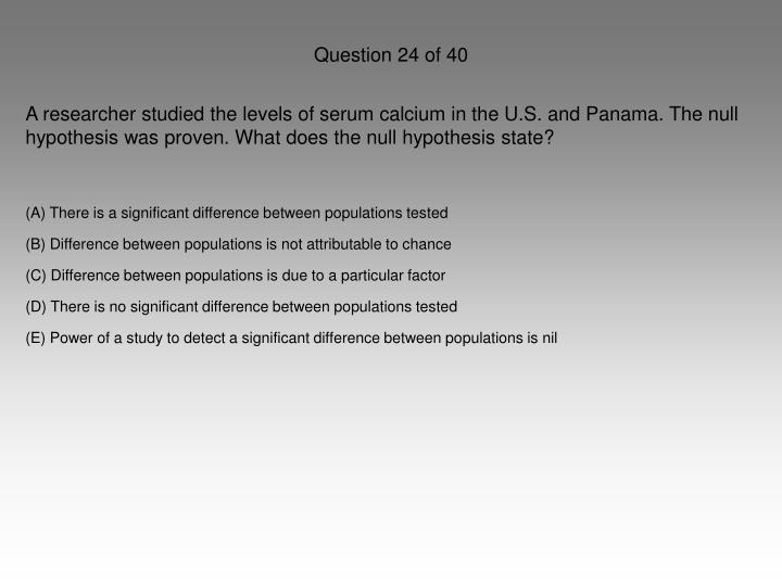 Question 24 of 40