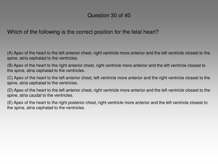 Question 30 of 40