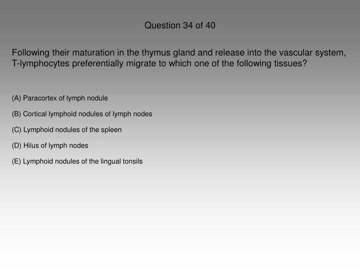 Question 34 of 40