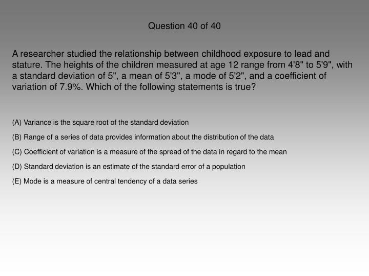 Question 40 of 40