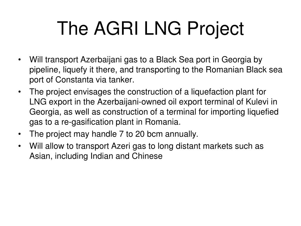 The AGRI LNG Project