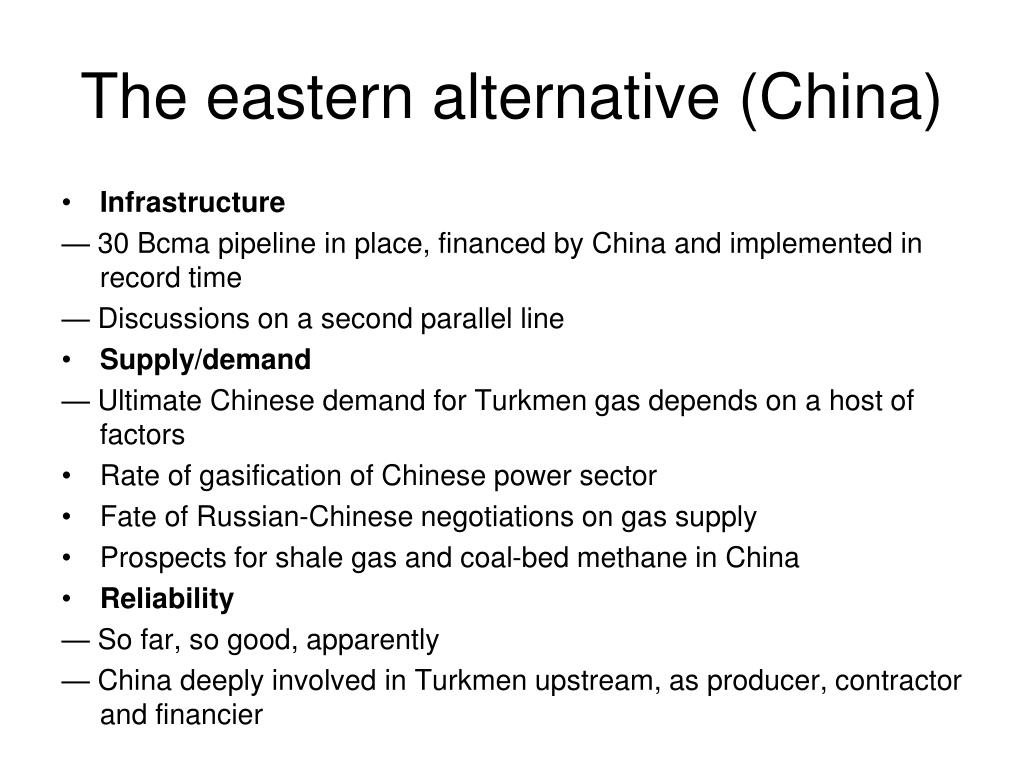 The eastern alternative (China)