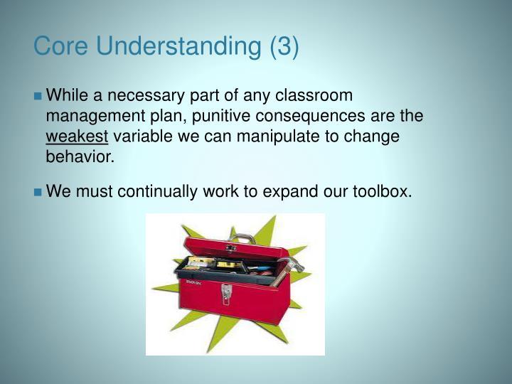 Core Understanding (3)