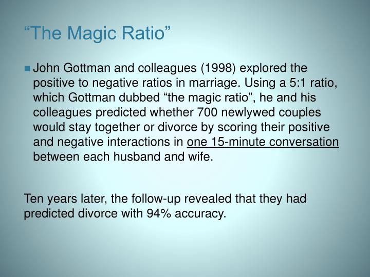 """The Magic Ratio"""