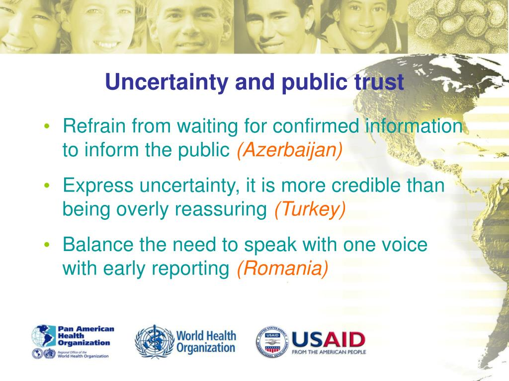 Uncertainty and public trust
