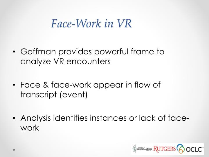 Face-Work in VR