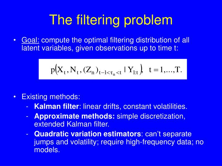 The filtering problem