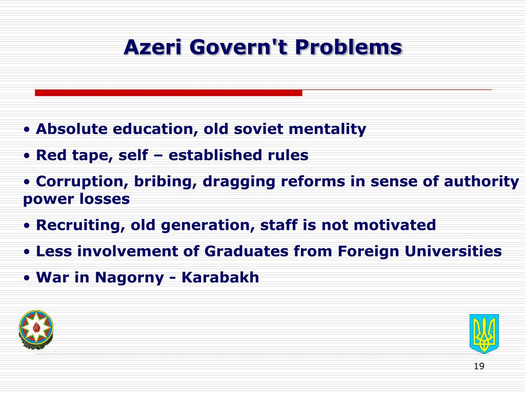 Azeri Govern't Problems