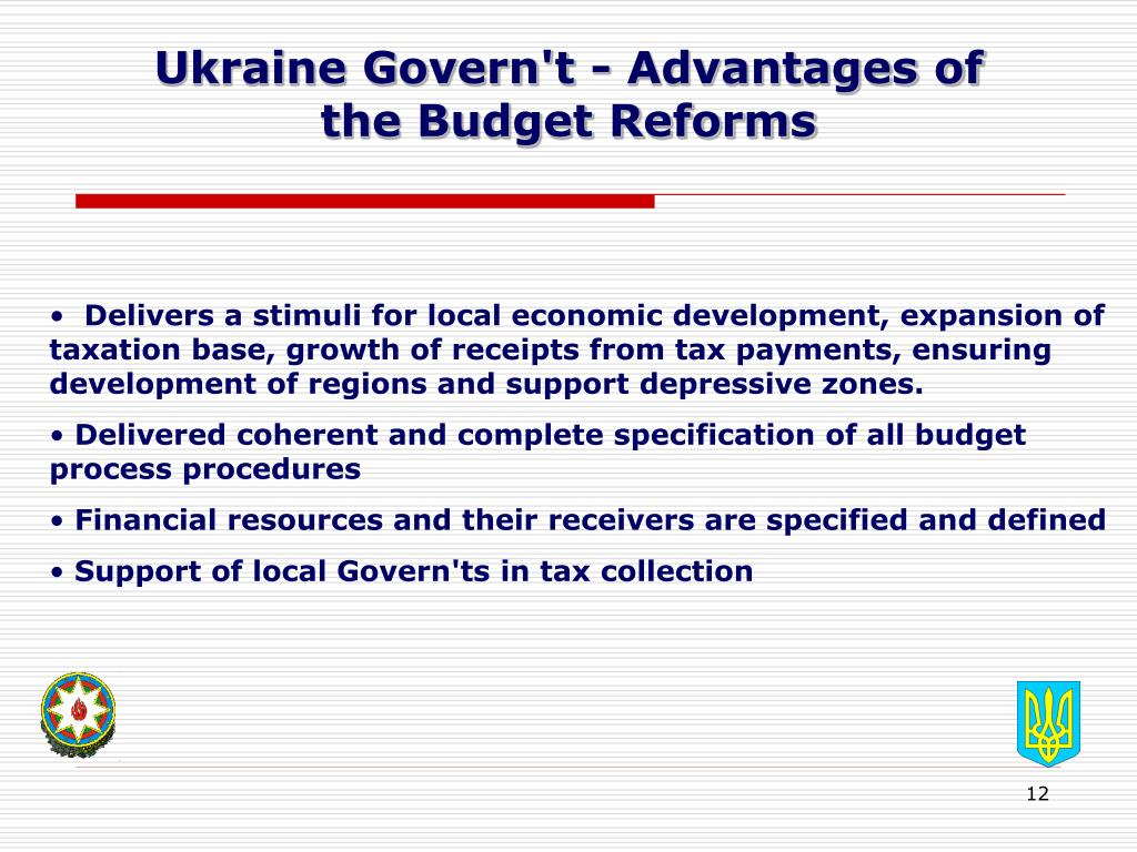 Ukraine Govern't - Advantages of
