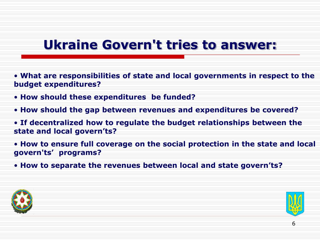 Ukraine Govern't tries to answer: