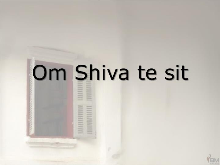 Om Shiva te sit