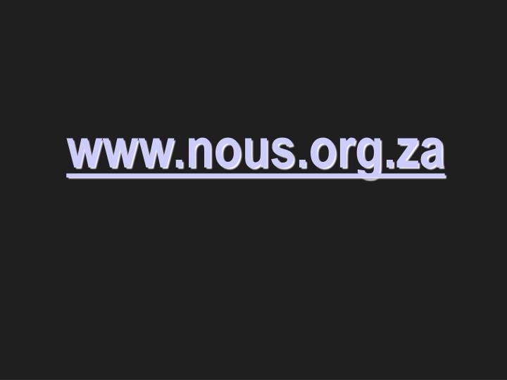 www.nous.org.za