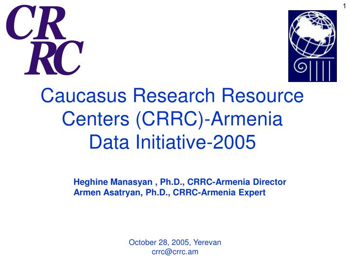 Caucasus Research Resource Centers (CRRC)