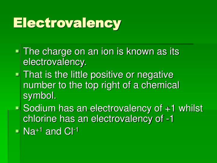 Electrovalency