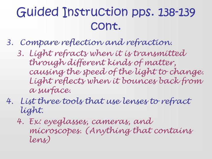 Guided Instruction pps. 138-139 cont.