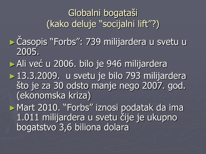 Globalni bogataši
