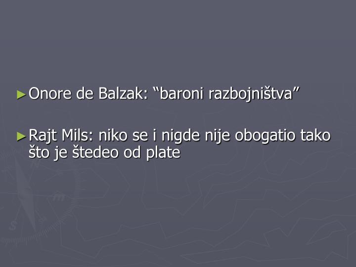 "Onore de Balzak: ""baroni razbojništva"""