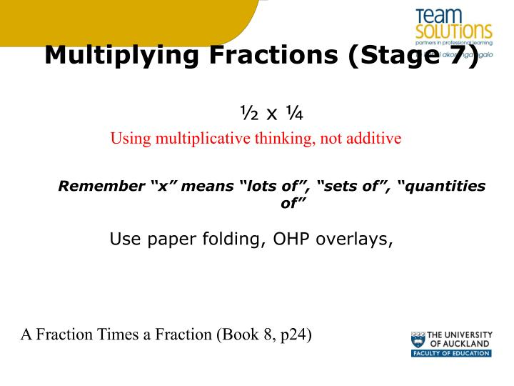 Multiplying Fractions (Stage 7)