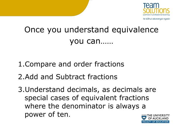Once you understand equivalence