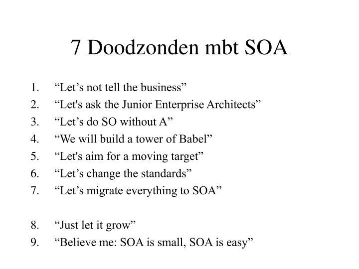7 Doodzonden mbt SOA