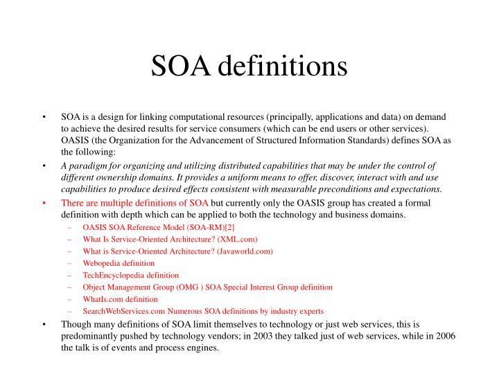 SOA definitions