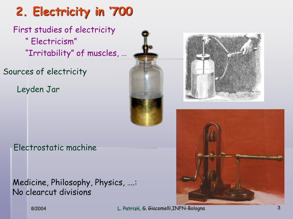 2. Electricity in '700