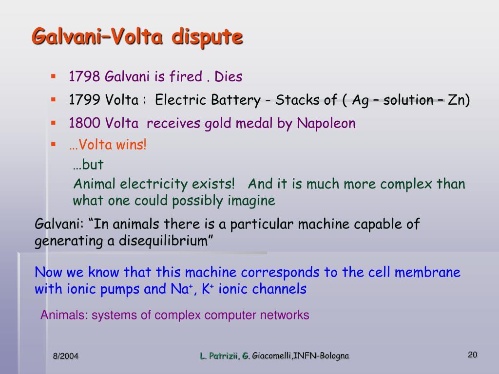 Galvani–Volta dispute