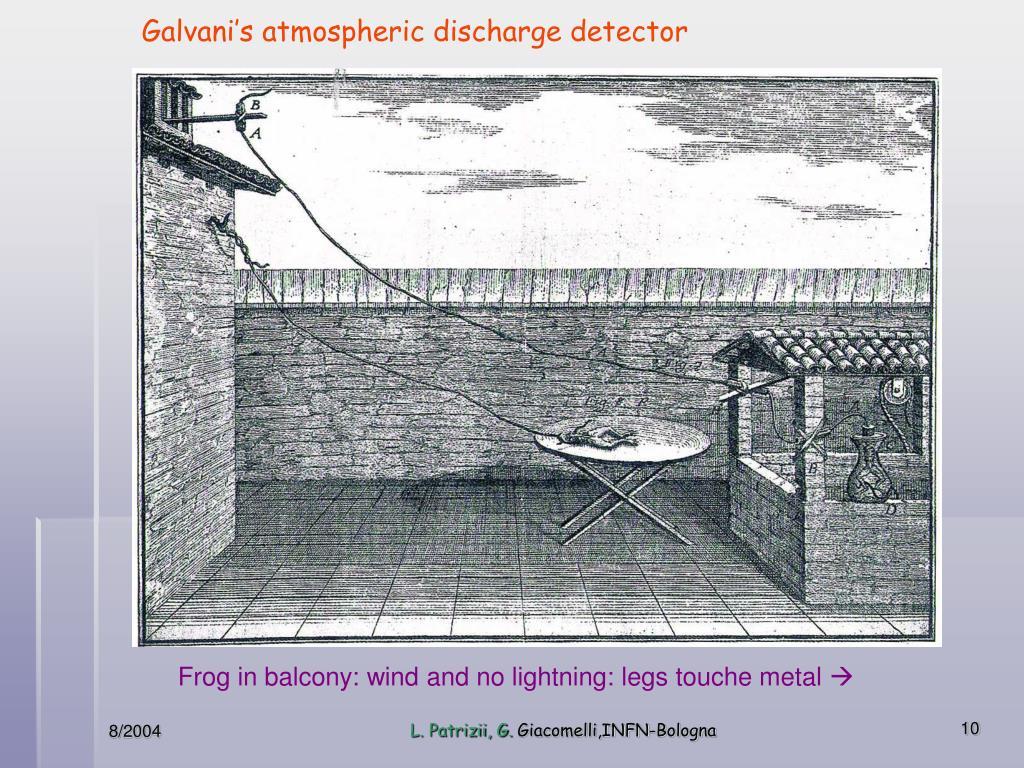 """Galvani's """"atmospheric discharge detector"""""""