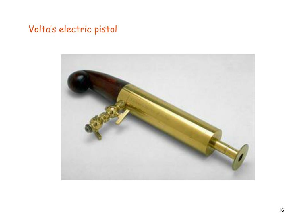 Volta's electric pistol