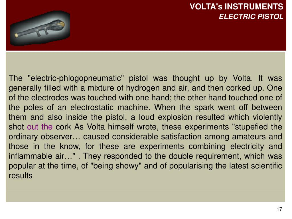 VOLTA's INSTRUMENTS