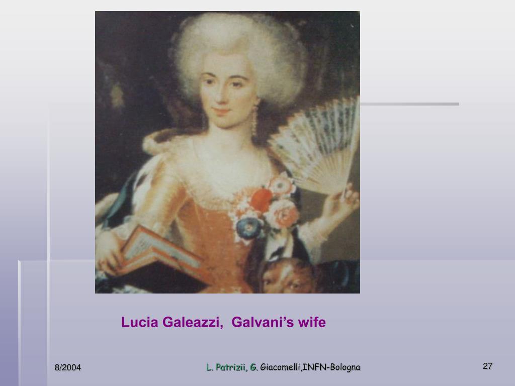 Lucia Galeazzi,  Galvani's wife