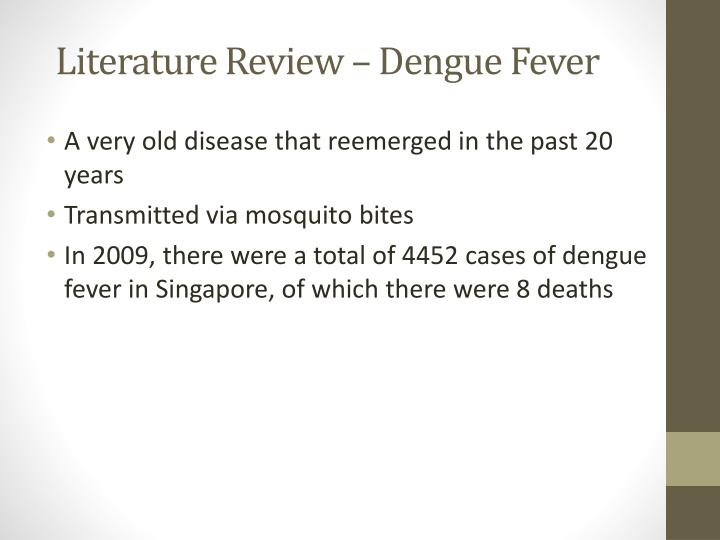Literature Review – Dengue Fever