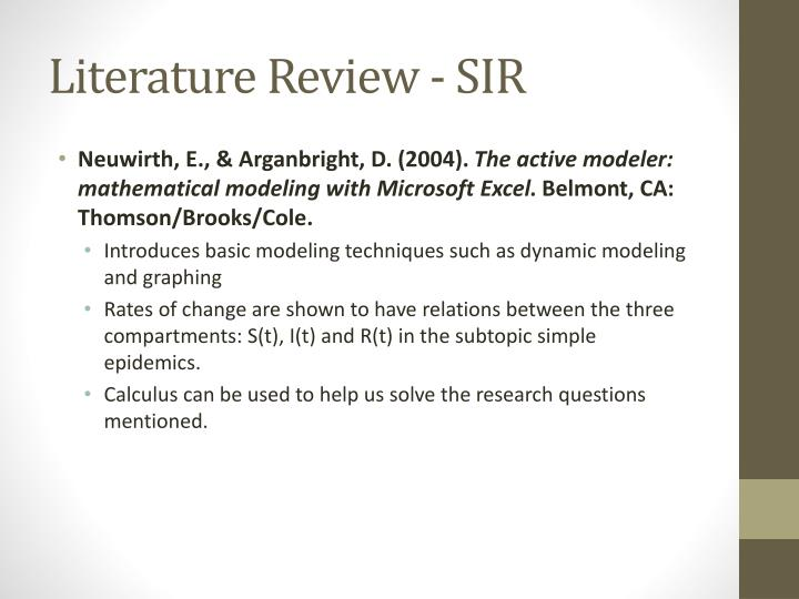 Literature Review - SIR