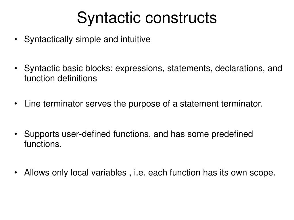 Syntactically simple and intuitive